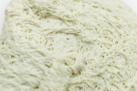Yeast dough with air bubbles. Archivio Fotografico