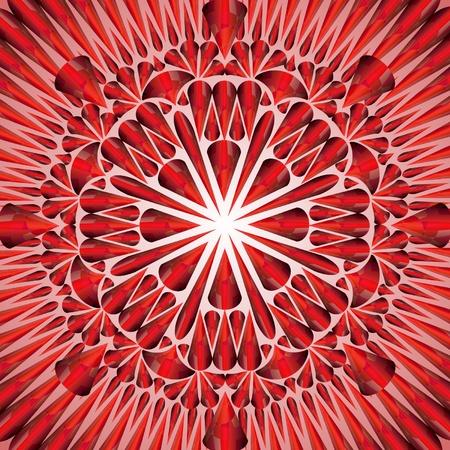 patch of light: ornamento rosso