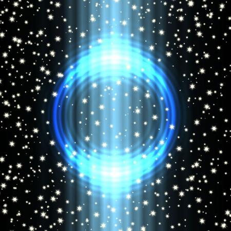 bright luminescence in the night sky Stock Vector - 18464031
