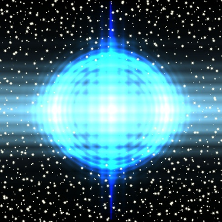bright sphere in the night sky Stock Vector - 18464030