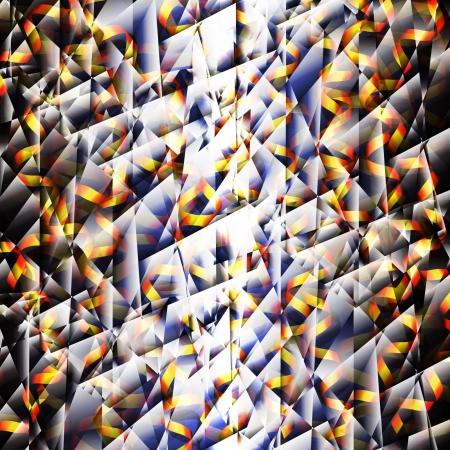 splinter: color splinters of glass on a black background
