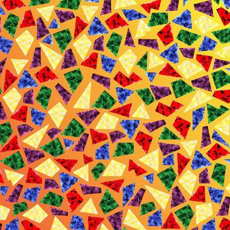 splinters: light splinters on a yellow background Illustration