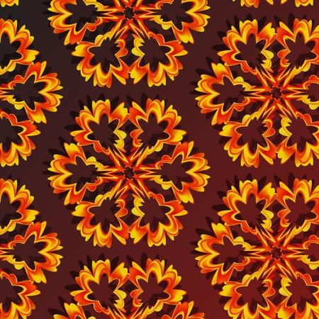 claret: gold patterns on a claret background Illustration