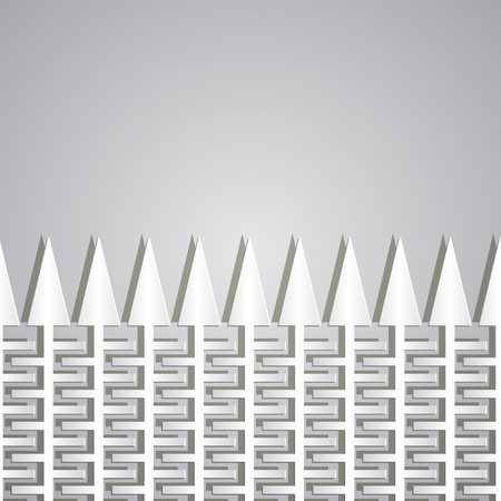 teeths: paper fence with teeths on a gray background