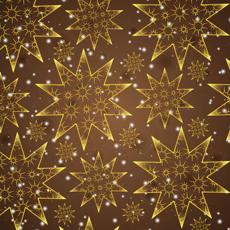 patch of light: bright stars on a brown background Illustration