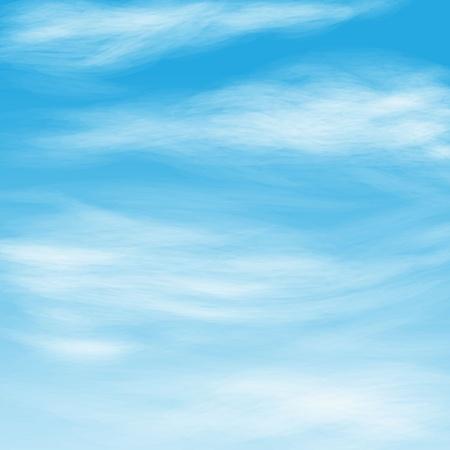 ciel avec nuages: nuages ??plumeux dans le ciel bleu Illustration