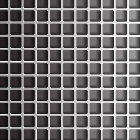 grid paper: paper grid on a gray background Illustration