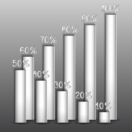 shares of percent on a gray background Иллюстрация