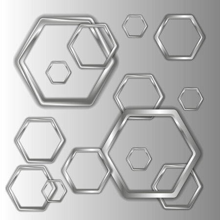 patch of light: gray hexagons Illustration