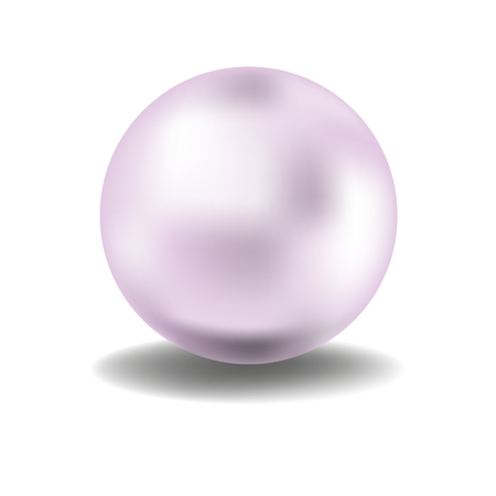 pink pearl on a white  Иллюстрация
