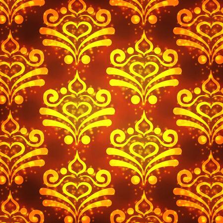 claret: gold pattern on a claret background
