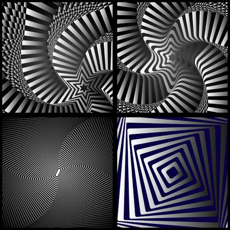 visual illusion on a black background