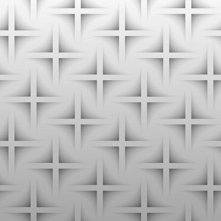 patch of light: gray paper crosses on a gray background