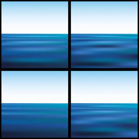 sea landscape: sea landscape against the sky