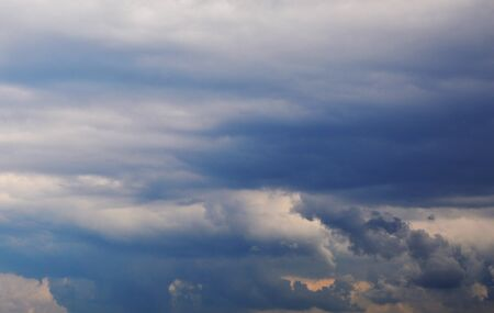gloom: storm clouds in the blue sky Stock Photo