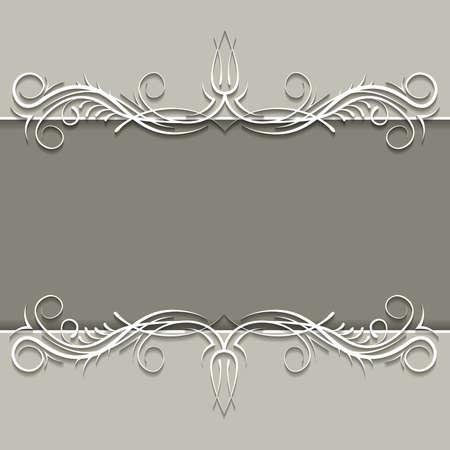 gray strip: paper ornament