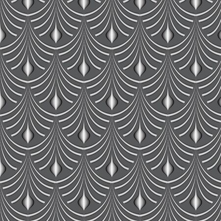 gray: gray volume ornament on a gray background