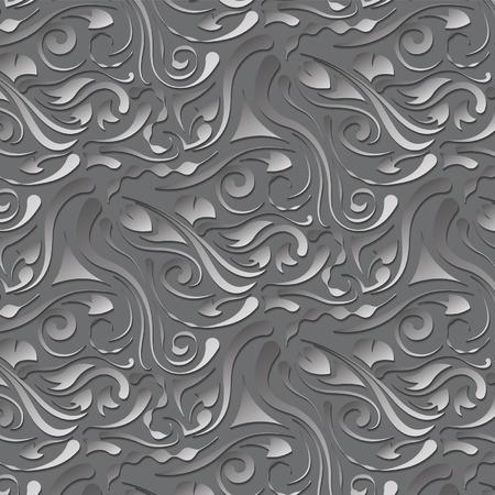 gray: gray volume pattern on a gray background Illustration