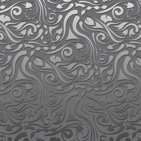 gray strip: gray vintage volume pattern Illustration