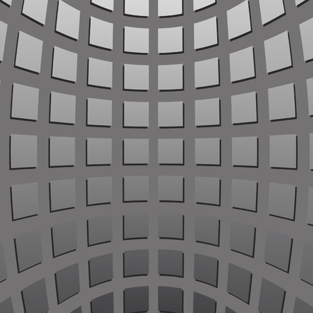 concave: gray concave squares on a gray background Illustration