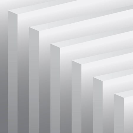 thickness: gray walls on a gray background Illustration
