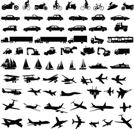 aerei: trasporto silhouette collection - vector Vettoriali