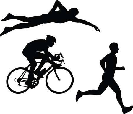 triathlon - vector Stock Vector - 4419884