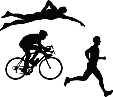 triathlon: triathlon - vector Illustration
