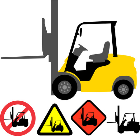 lift trucks: forklift - vector