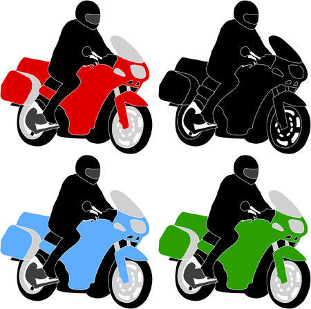 stunt: motorcyclist - vector