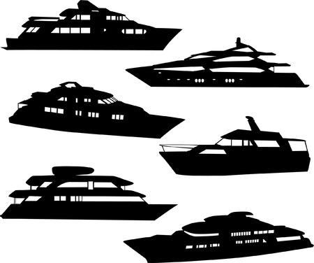 boats collection - vector Vector