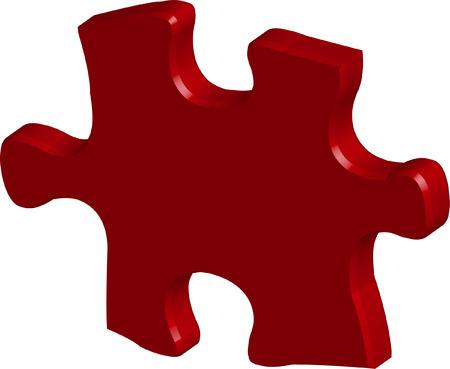 3D puzzle element - vector Vector