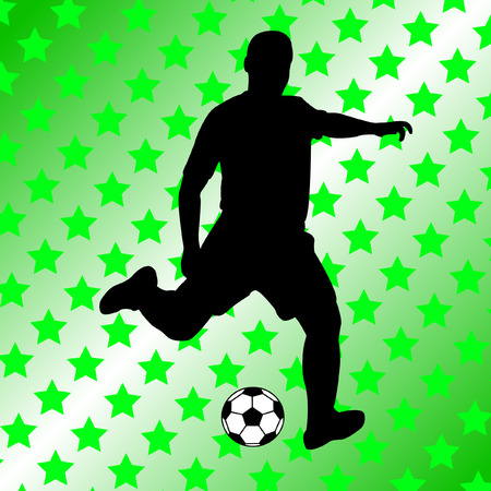 soccer player on abstract background - vector Stock Vector - 4893463