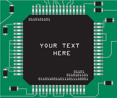 규소: chip - vector