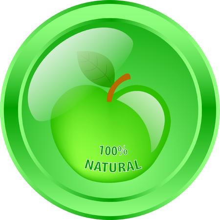 100 percent natural - vector Stock Vector - 4943727