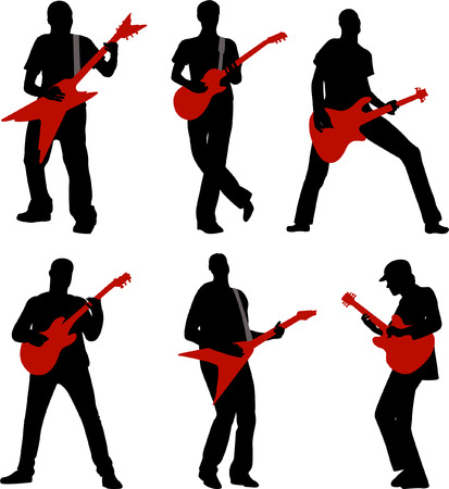 guitarists - vector Stock Vector - 4943736