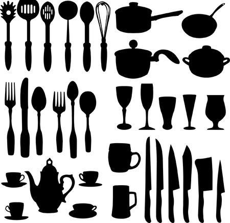 kitchen objects - vector Stock Vector - 4943734