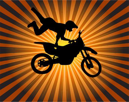stunt biker - vector Vector