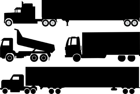 trucks collection  - vector     Vector