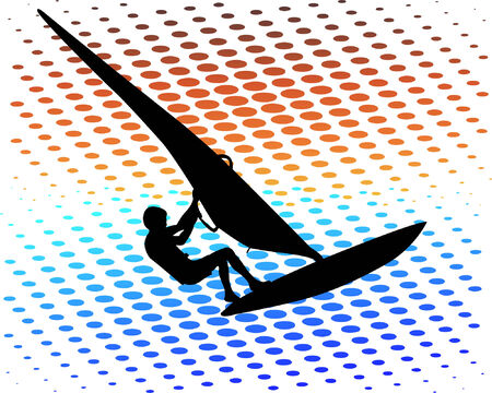 windsurfer - vector Stock Vector - 4977655