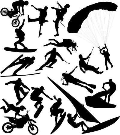 deportes extremos - vector