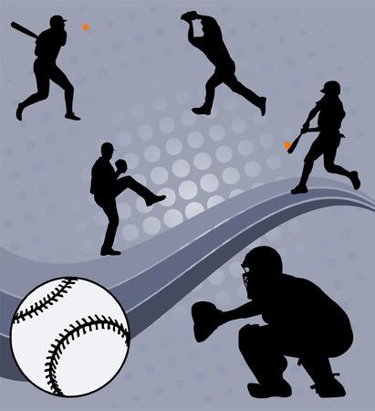 catcher baseball: baseball - vecteur