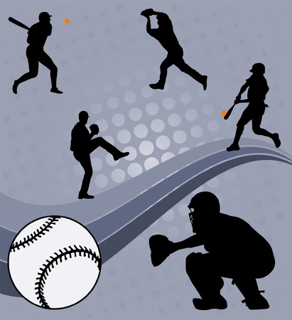 champions league: baseball - vector
