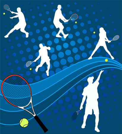 tennis - vector Vector