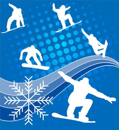 snowboard - vector Vector