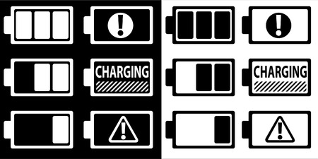 warning indicator: battery symbol - vector