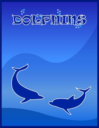 Dolphins - vector Vector