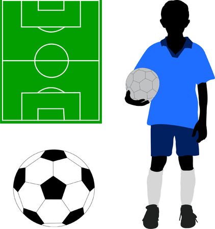 boy in soccer uniform - vector Vector