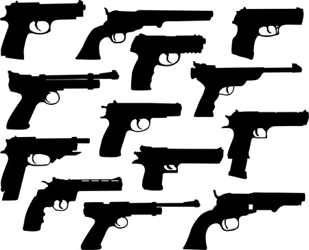 guns collection - vector Stock Vector - 5022198