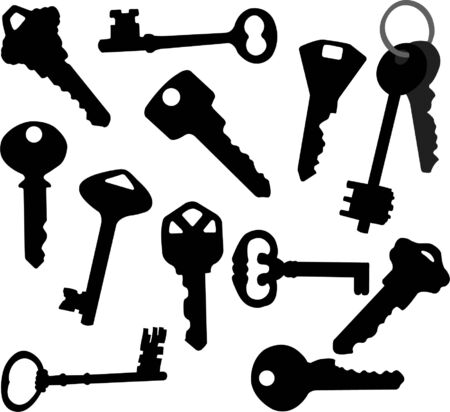 latchkey: keys collection - vector Illustration